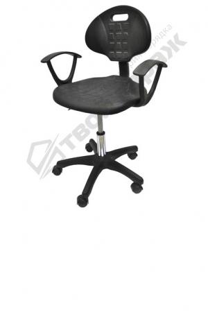 Промышленный стул поворотный с  подлокотниками и лифтом