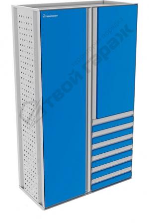 Шкаф металлический хозяйственный комбинированный 1100х2100