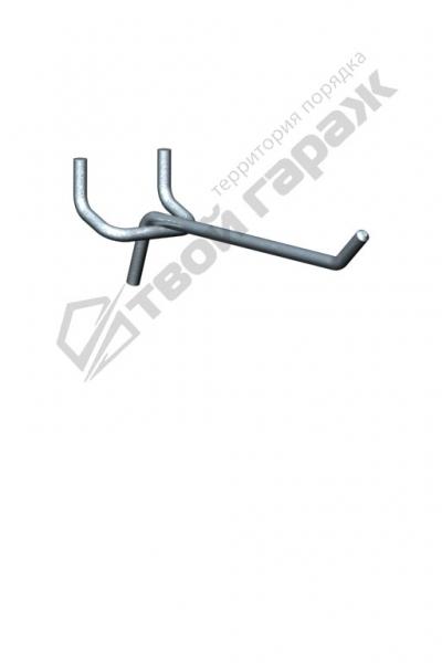 Крючок для перфорированных панелей оцинкованный 120 мм