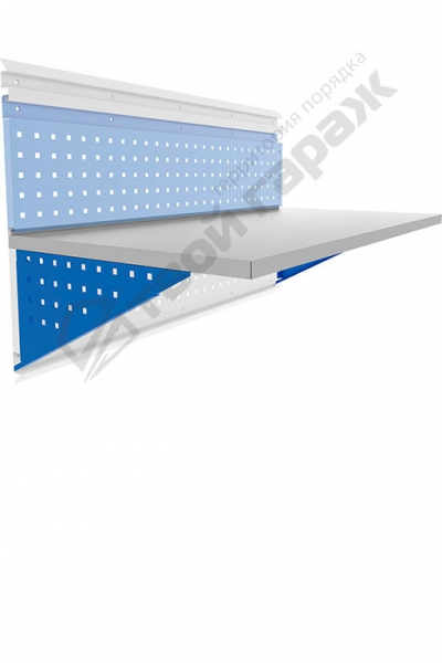 Столешница металлическая с кронштейнами 1200х600