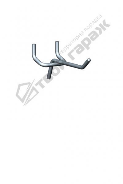 Крючок для перфорированных панелей оцинкованный 65 мм