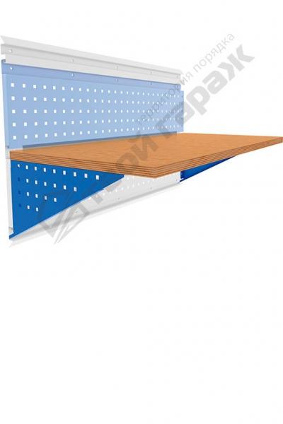 Столешница деревянная с кронштейнами 1200х600